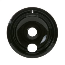 "ELECTRIC RANGE BURNER BOWL - 8"" BLACK PORCELAIN"