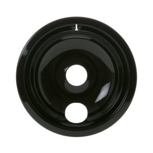 "GEELECTRIC RANGE BURNER BOWL - 8"" BLACK PORCELAIN"