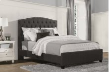 Lila California King Bed - Onyx Linen