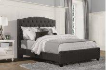 Lila California King Bed - Onyx Linen