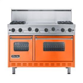 """Pumpkin 48"""" Sealed Burner Range - VGIC (48"""" wide, four burners 24"""" wide griddle/simmer plate)"""