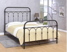 Hallwood Bed - Full, Rust Black Finish