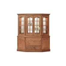 """Brookville Canted Hutch 76"""" Buffet"""