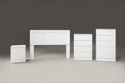 White 4 Drawer Chest (Net Price)