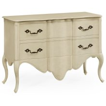 Linen Painted French Provincial Chest of Drawers