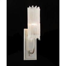 Natural Selenite Single-Light Wall Sconce