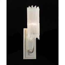 Natural Selenite Single-Light Wall Sconce
