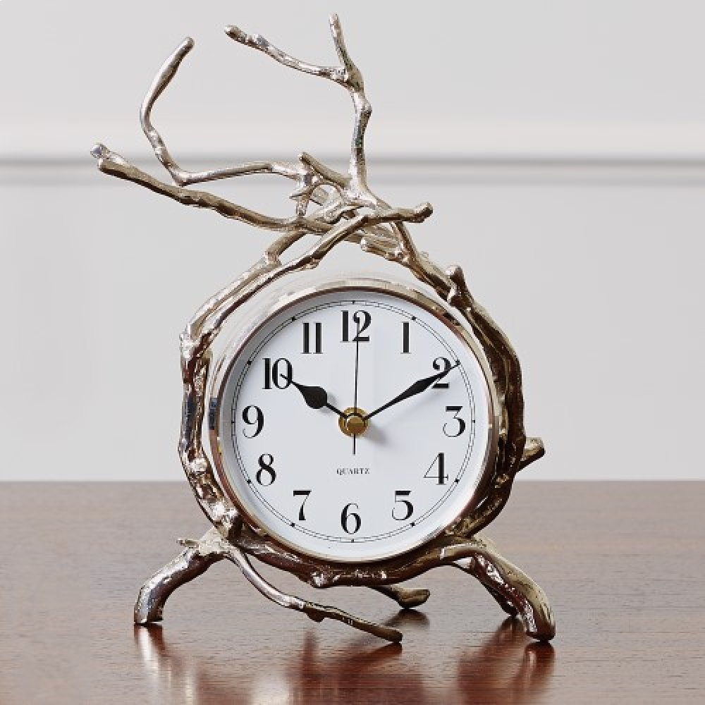 Twig Clock-Nickel
