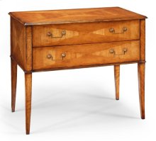 Rectangular Satinwood Chest of Two Drawers