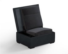 JumpSeat Ottoman, Midnight Blue Cover / Slate Seat