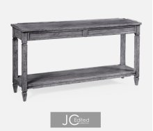 Console Table for Drawers in Antique Dark Grey