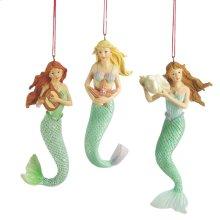 Mermaid Ornament (3 asstd).