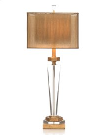 Crystal and Antique Brass Table Lamp