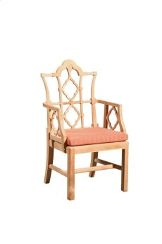 Italian Arm Chair Unfinished Teak Product Image