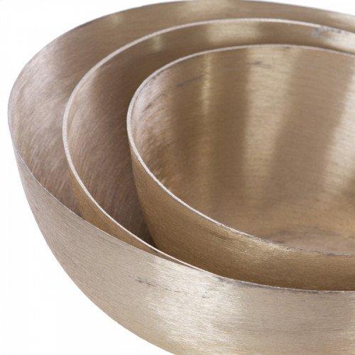 Brushed Gold Slanted Bowls
