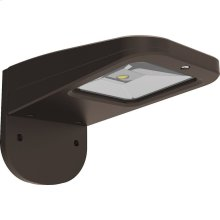 20W LED Slim Wall Pack Fixture - Bronze Finish