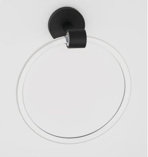 Acrylic Contemporary Towel Ring A7240 - Matte Black Product Image