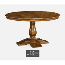 """55"""" Circular Extending Dining Table in Country Walnut"""