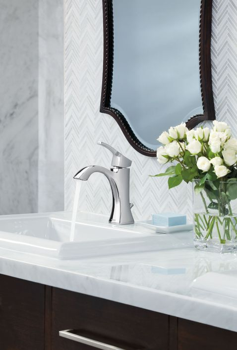 Hidden · Additional Voss Chrome One Handle Bathroom Faucet