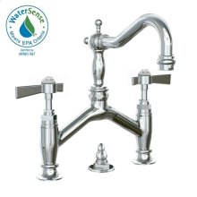Savina Bridge Style Lavatory Faucet Lever Handles - Polished Chrome
