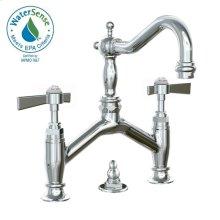 Savina Bridge Style Lavatory Faucet Lever Handles - Polished Chrome