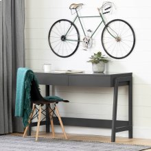 Secretary Desk with 2 drawers - Charcoal Gray