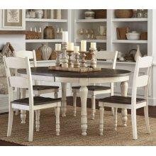 Madison County Round To Oval Dining Table - Vintage White