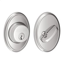 Single Cylinder Deadbolt with Wakefield trim - Bright Chrome