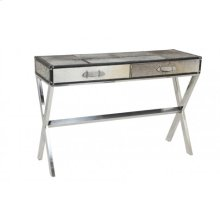 Table with 2 drawers 120x40x80 cm SKIN grey skin