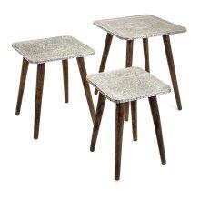 Piers Metal Clad Tables - Set of 3