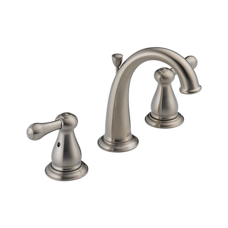 Stainless Two Handle Widespread Lavatory Faucet