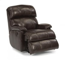 Geneva Leather Power Rocking Recliner