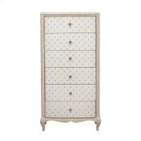 Reece 6 Drawer Lingerie Chest in Distressed Cream / White Product Image