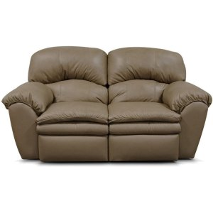 ENGLAND FURNITURE Oakland Leather Double Reclining Loveseat 7203l