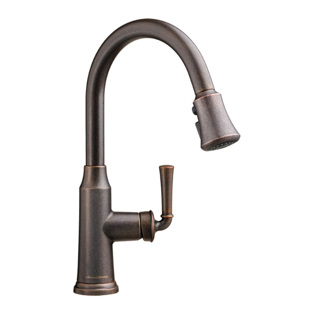 Portsmouth 1 Handle Pull Down High Arc Kitchen Faucet American Standard    Polished Chrome