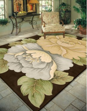 Tropics Ts09 Brn Rectangle Rug 3'6'' X 5'6''