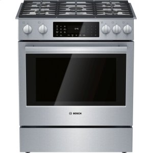 Bosch800 Series Dual Fuel Slide-in Range 30'' Stainless steel