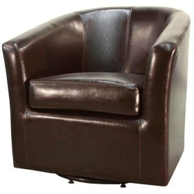 Hayden SWIVEL Bonded Leather Chair, Brown