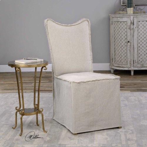 Lenore Armless Chairs, Oatmeal, 2 Per Box