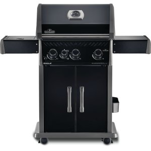 Napoleon BBQRogue 425 BE SIB with Infrared Side Burner, Black Edition , Black , Propane