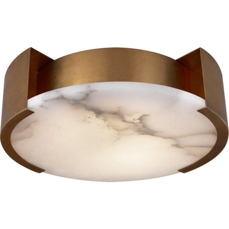 Visual Comfort Kw4012ab Kelly Wearstler Melange 2 Light 14 Inch Antique Burnished Br Flush Mount
