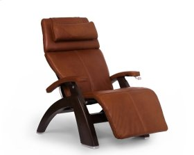 Perfect Chair PC-420 Classic Manual Plus - Cognac Premium Leather - Dark Walnut
