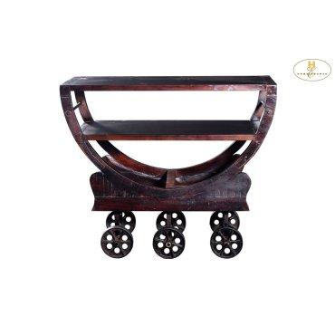 Iron Kitchen Cart with Wheels