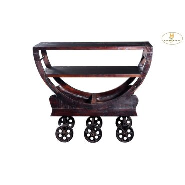 Iron Kitchen Cart with Wheels
