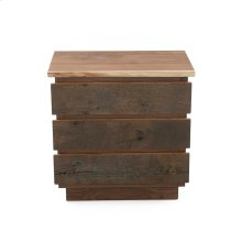 Hillsboro 3 Drawer Nightstand - (gray Barnwood Drawer Fronts)