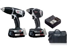 14.4V 4.2Ah Impact Driver Combo Kit with Dual Voltage Technology