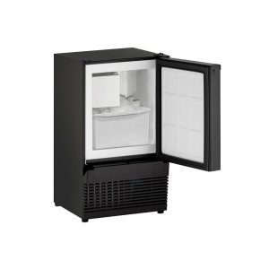 "U-LineAda Series 14"" Crescent Ice Maker With Black Solid Finish and Field Reversible Door Swing (115 Volts / 60 Hz)"