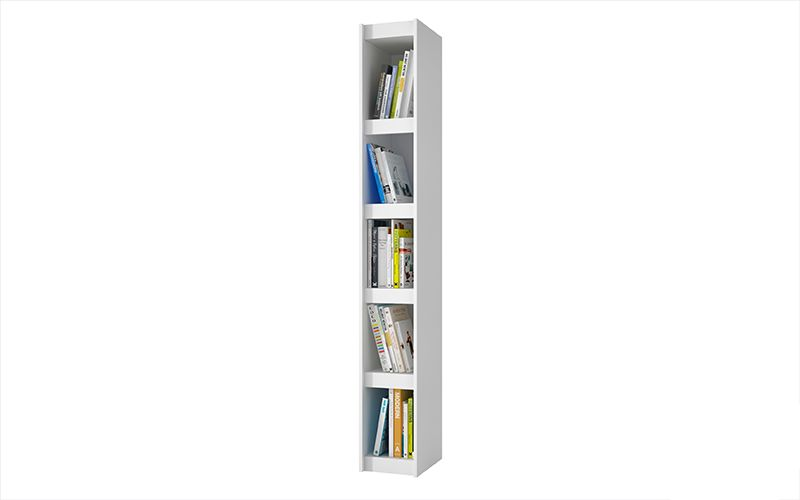 Parana Bookcase 1.0 with 5 shelves in White