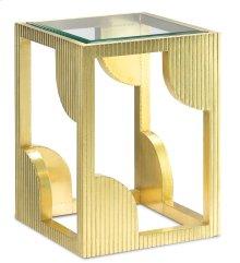 Morneau Brass Side Table - 24h x 18w x 18d