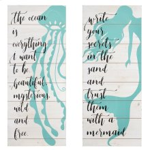 Mermaid Life Wall Decor - Ast 2